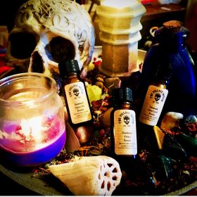 Handmade Magical Spell Powders, Blessing Powders, Dirts & Dusts - 10ml Amber Glass Bottle (Small Personal Size)