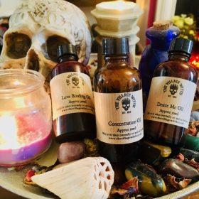 Handmade Magical Oils, Spell Oils & Anointing Oils – 50ml Amber Glass Bottles (Large Practitioner Size)