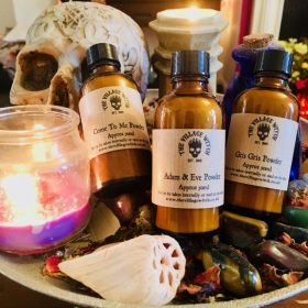 Handmade Magical Spell Powders, Blessing Powders, Dirts & Dusts – 50ml Amber Glass Bottles (Large Practitioner Size)